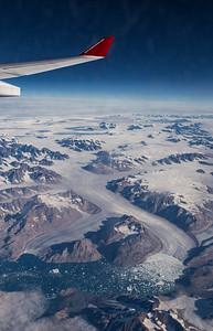 The lower portion of Frederiksborg Glacier, in eastern Greenland