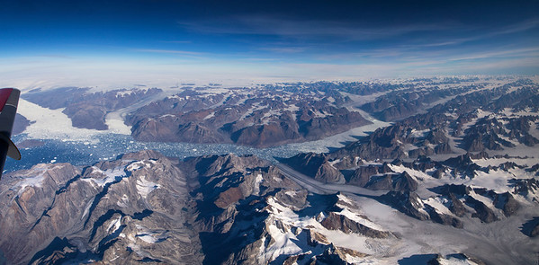 Helheim, Skakt and Mitgard glaciers