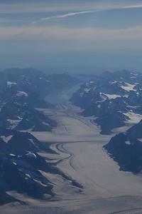 Looking down Glacier de France