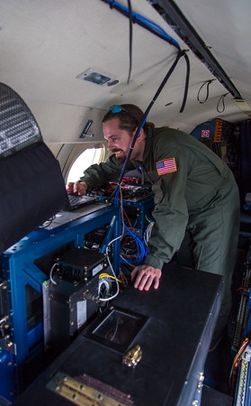 Robbie downloading ATM data from the recently finished flight