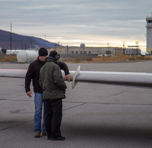 Sean and Dean, doing post-flight inspections