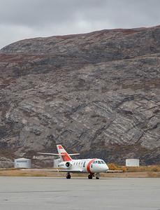 The NASA Langley Falcon on the ramp in Kangerlussuaq