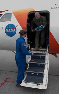 Sean and Matt work post-flight to install the tow bar.