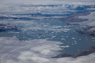 Unnamed glacier in SW Greenland emptying into a lake