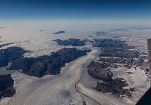 Looking down Eqalorutset Kangigdlit Sermiat