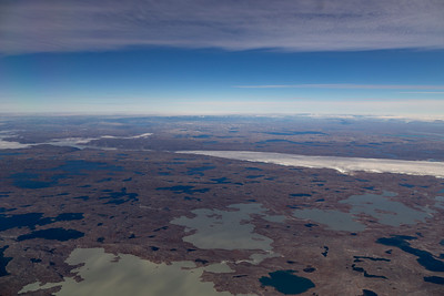 A number of lakes along the SW edge of the Greenland ice sheet