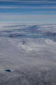 A glacier terminating in a large lake in SW Greenland
