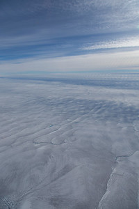 The SW Greenland ice sheet with summer melt ponds and rivers