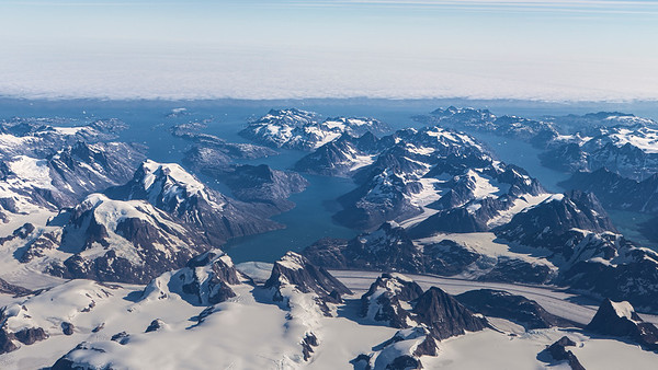 Looking out over Thrym Glacier towards the Atlantic