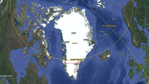 Flight path of SE Coastal A