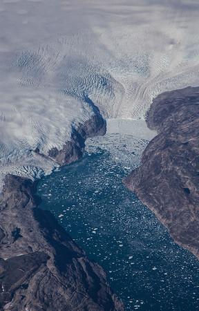 Unnamed glacier in SE Greenland near the town of Isortoq