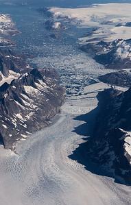 Unnamed glacier emptying into Mogens Heinesen Fjord