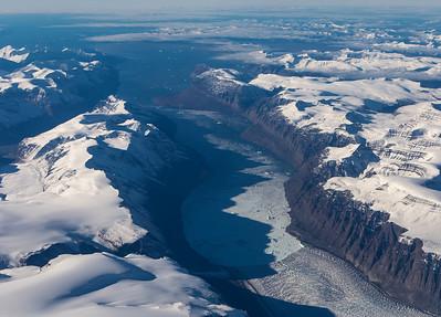 Close-up of Ingia Glacier terminus