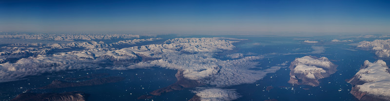 Looking out into Uummannaq Fjord from over the ice sheet