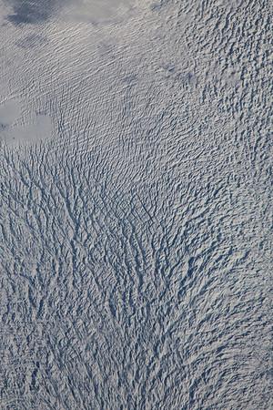 Close-up of glacier crevasses on Jakobshavn Glacier