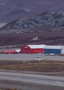 The NASA Falcon takes off