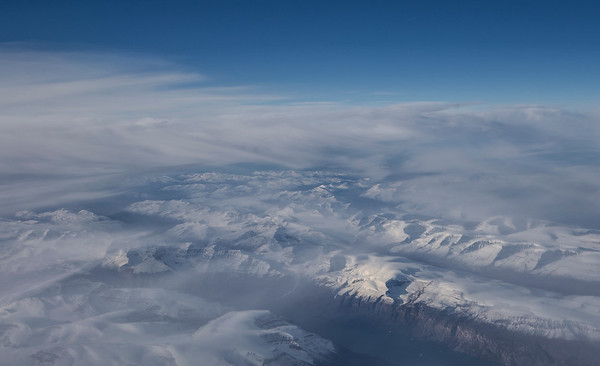 Mountains in western Greenland
