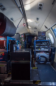 The instrument setup inside the Falcon