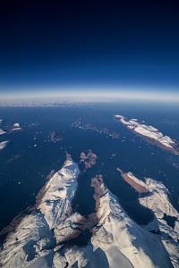 Peninsulas near Cornell Gletscher, western Greenland