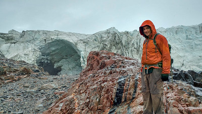 Serdar with Russell glacier and its ice cave