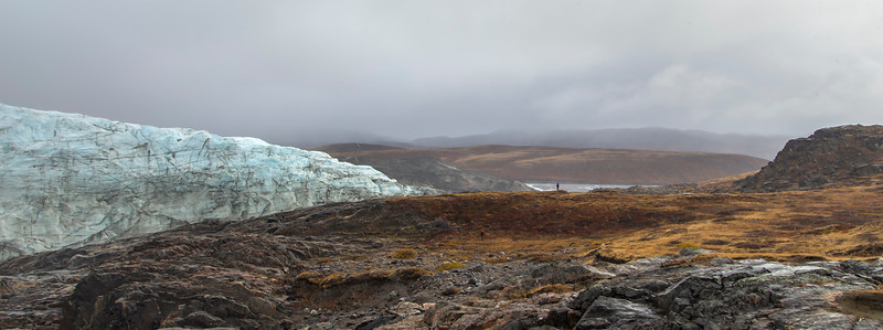 Serdar and John at Russell glacier