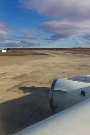 The view out the window from my seat before taxiing