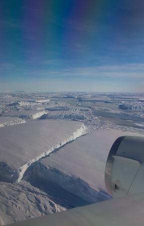 Large tabular icebergs just off the Thwaites ice tongue