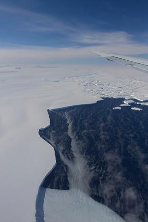 View of the edge of Thwaites Glacier