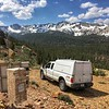 Another beautiful day in the eastern Sierra Nevada performing routine maintenance on PBO station P630.  Keeping GPS stations functioning properly is integral to accurately studying the tectonics of the region.  Mammoth Lakes, California.  July 13, 2017.  (Photo/Dylan Cembalski UNAVCO)