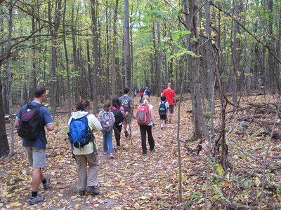 5th grade PE hike to Snake Mtn 2013