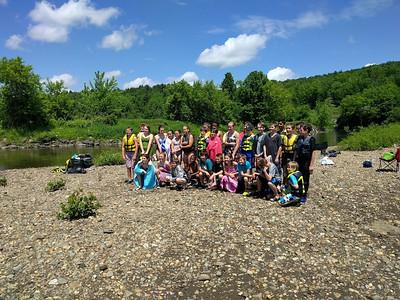 6th Grade Lamoille River Canoe and Float P.E. Field Trip 2016