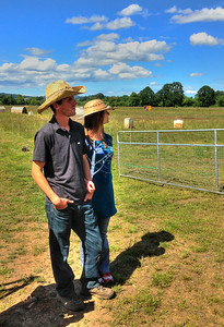 Chris Hansen & Erin Bartek, owners of Mosaic Farms, producers of artisan pork.