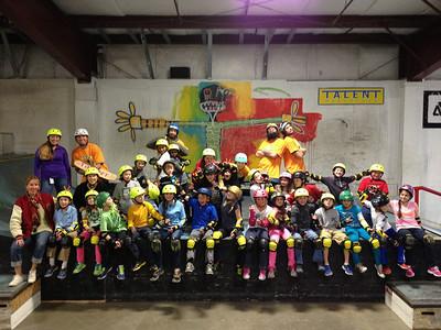 Talent Skatepark 4th grade PE fieldtrip