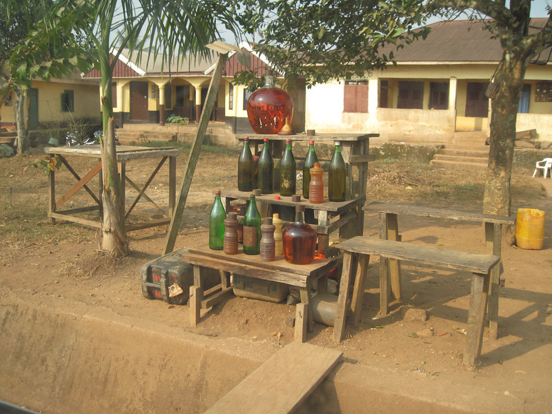 Typical gas station in Mamfe, Cameroon!