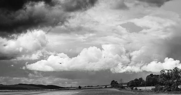 Small plane, BIG sky.