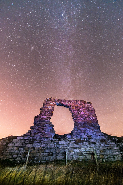 Milky Way and Arch at Newark Castle, St Monan's.