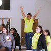 JOY OF DISIPLES—The September Diocesan Encuentro included discernment and discussions with delegates from 10 southern Missouri parishes on discipleship. The event was held Sept. 30 at Our Lady of the Lake in Branson. (Photo by Dean Curtis/<i>The Mirror</i>)