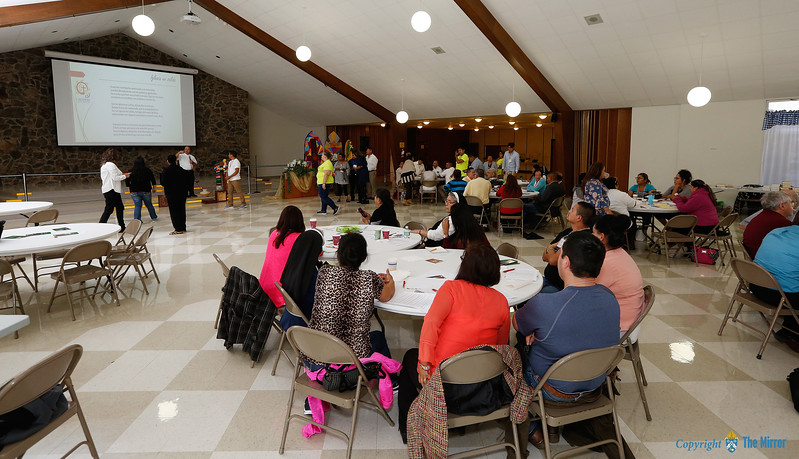 DISCERNMENT—The September Diocesan Encuentro included discernment and discussions with delegates from 10 southern Missouri parishes on discipleship. The event was held Sept. 30 at Our Lady of the Lake in Branson. (Photo by Dean Curtis/<i>The Mirror</i>)
