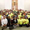 DIOCESAN V ENCUENTRO—Hundreds gathered in Our Lady of the Lake Parish, Branson, on Sept. 30, to participate in a historic Diocesan V Encuentro. The national initiative of V Encuentro is a process of evangelization, consultation, and mission that was officially launched last year by the US Bishops to discern ways for the Church in the United States to better respond to the ever-growing Hispanic presence, and to help Hispanic Catholics to strengthen their Christian identity and their response as missionary disciples for the entire Church. (Photo by Dean Curtis/<i>The Mirror</i>)
