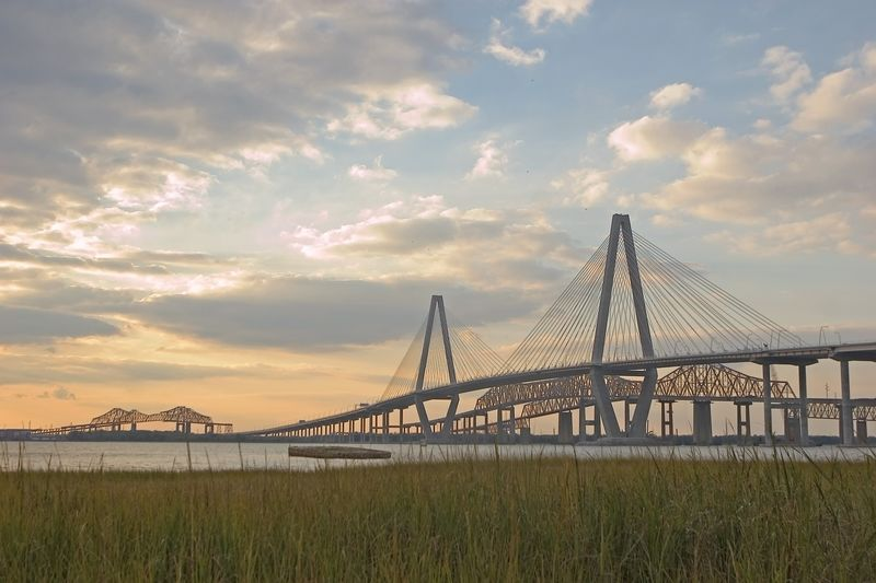 New and Old bridges from Mt Pleasant to Charleston, SC