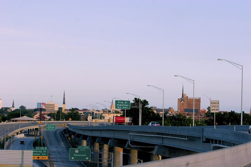 "Approaching Charleston, SC from Interstate 26: The new ""Skyline Of Charleston"""