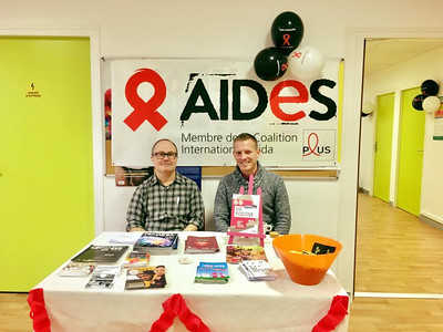 Montreuil, France, AIDES Militantes, Tom and Maxime, inside CeGIDD Health Center, HIV Testing