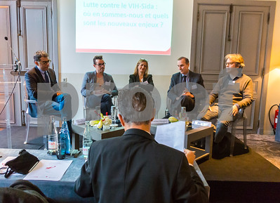 Paris, France, Panel, inside AIDS HIV Conference, Vers une France Sans Sida, 6 December 2016