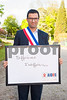 Sevran, France, AIDS NGO AIDES, French People,, Holding Protest Signs Against Discrimination, Homophobia, Mairie du Sevran