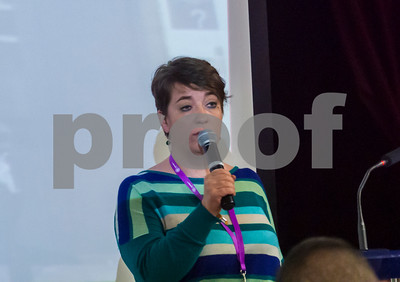 Normandy, France, French NGO AIDES HIV AIDs Activists, Regional Meeting (Assises) Camille Spire, Giving Presentation