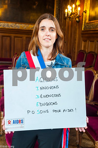 Paris, France, AIDS NGO AIDES, French People, Holding Protest Signs Against Discrimination, International Day Against Homophobia, IDAHOT, Portraits,