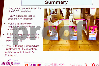 Paris, France,  Jean-Marc Molina Presentation IPERGAY, PrEP Study slides at AIDS HIV Meeting on Multiple Prevention Tools, by the TRT-5 O.N.G, Ministry of Health, 10/06/2016