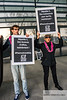 Paris, France, AIDS Activists, Act UP protest against Gilead Pharmaceuticals, to lower drug prices, 1/4/16, front of Gilead France offices