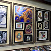 Some of the artwork on the walls at Fight or Flight Tattoo Piercing on Summer Street in Fitchburg. SENTINEL & ENTERPRISE/JOHN LOVE