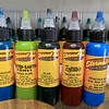Some of the inks that tattoo artist Brad Touchette uses at Fight or Flight Tattoo Piercing on Summer Street in Fitchburg. SENTINEL & ENTERPRISE/JOHN LOVESENTINEL & ENTERPRISE/JOHN LOVE
